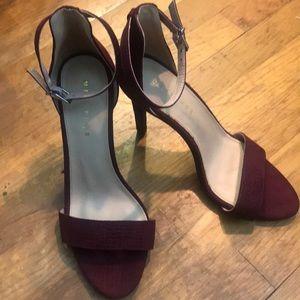 Metaphor heels burgundy